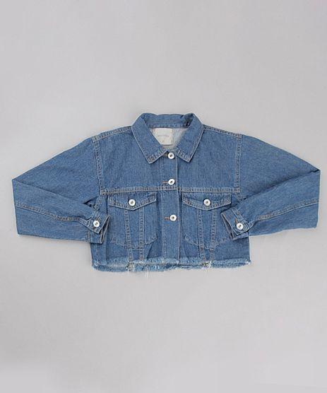 Jaqueta-Jeans-Infantil-Cropped-com-Barra-Desfiada-Azul-Escuro-9892624-Azul_Escuro_1