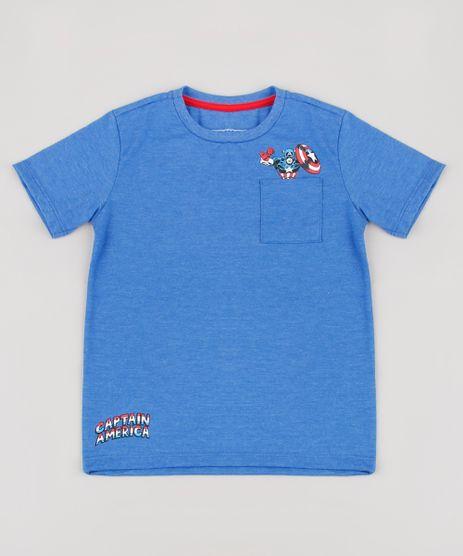 Camiseta-Infantil-Capitao-America-com-Bolso-Manga-Curta-Azul-9281447-Azul_1
