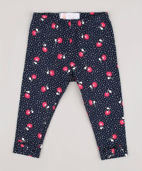 Calca-Legging-Infantil-Estampada-Floral-com-Laco-Azul-Marinho-9858157-Azul_Marinho_1