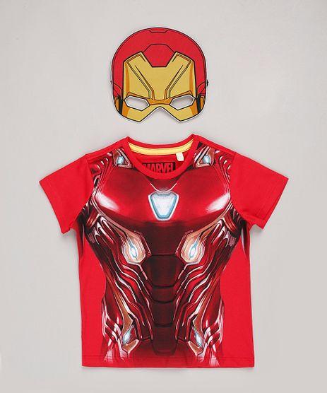 Camiseta-Infantil-Carnaval-Homem-de-Ferro-Manga-Curta---Mascara-Vermelha-9838317-Vermelho_1