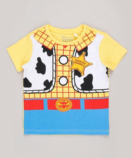 Camiseta-Infantil-Carnaval-Woody-Toy-Story-Manga-Curta-Amarela-9855931-Amarelo_1