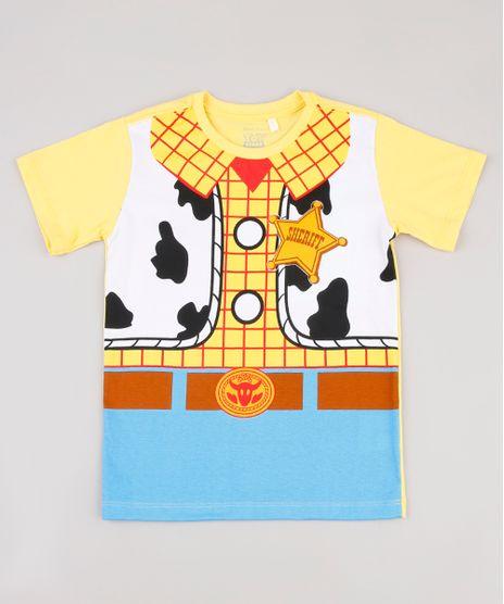 Camiseta-Infantil-Carnaval-Woody-Toy-Story-Manga-Curta-Amarela-9837786-Amarelo_1
