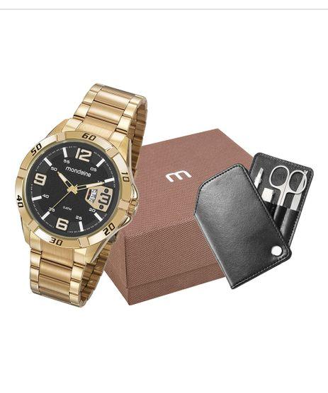 Kit-de-Relogio-Analogico-Mondaine-Masculino---Kit-Manicure---53834GPMVDE2K1-Dourado-9922683-Dourado_1