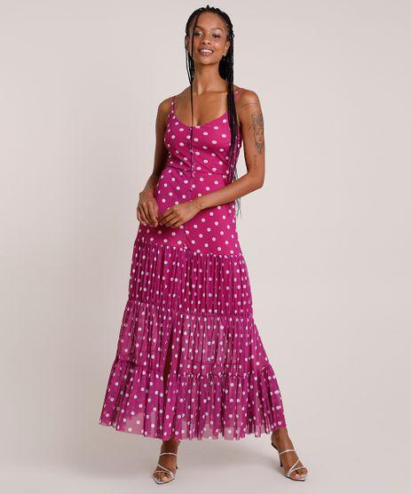 Vestido-Feminino-Mindset-Longo-Estampado-de-Poa-em-Tule-Alca-Fina-Roxo-9916542-Roxo_1