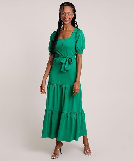 Vestido-Feminino-Mindset-Longo-com-Recortes-e-Faixa-para-Amarrar-Manga-Bufante-Verde-9916547-Verde_1