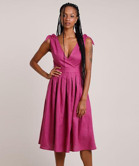 Vestido-Feminino-Mindset-Midi-em-Linho-com-Transpasse-e-Pregas-Alca-Larga-Roxo-9909661-Roxo_1