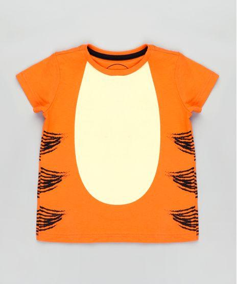 Camiseta-Infantil-Carnaval-Tigrao-Ursinho-Pooh-Manga-Curta-Laranja-9837171-Laranja_1
