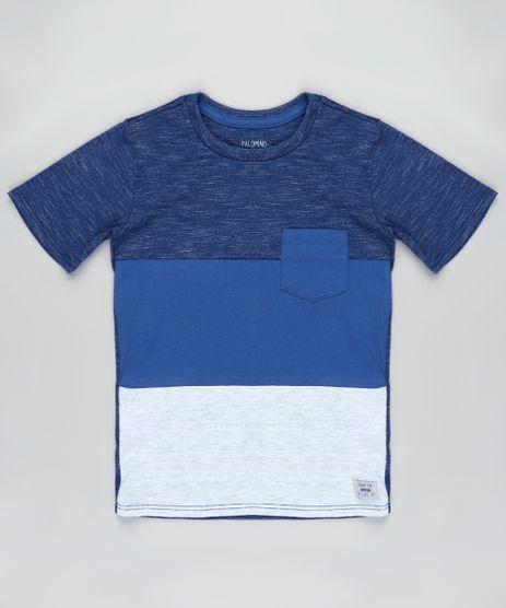 Camiseta-Infantil-com-Bolso-e-Recortes-Manga-Curta-Azul-9837800-Azul_1