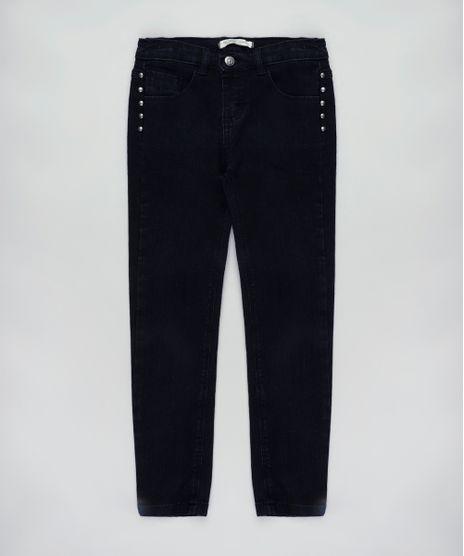 Calca-Jeans-Infantil-com-Tachas-Preta-9828202-Preto_1