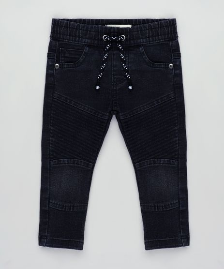 Calca-Jeans-Infantil-em-Moletom-com-Recortes-Preta-9837548-Preto_1