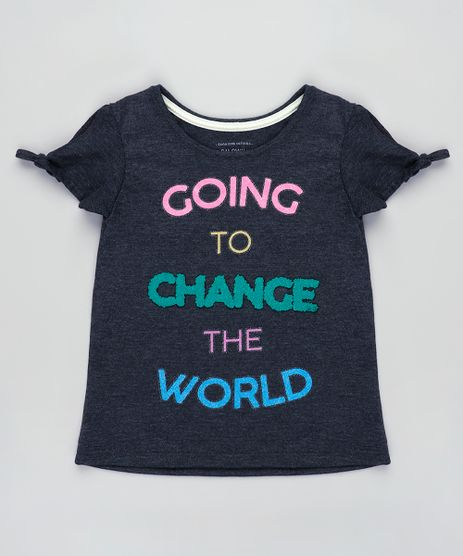 Blusa-Infantil-Open-Shoulder--Change-the-World--Manga-Curta-Cinza-Mescla-Escuro-9845992-Cinza_Mescla_Escuro_1