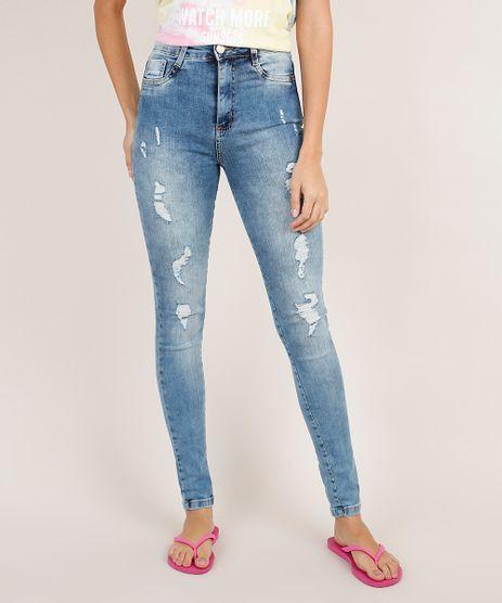 Calca-Jeans-Feminina-Sawary-Super-Skinny-Super-Lipo-Cintura-Alta-Destroyed-Azul-Medio-9857023-Azul_Medio_1