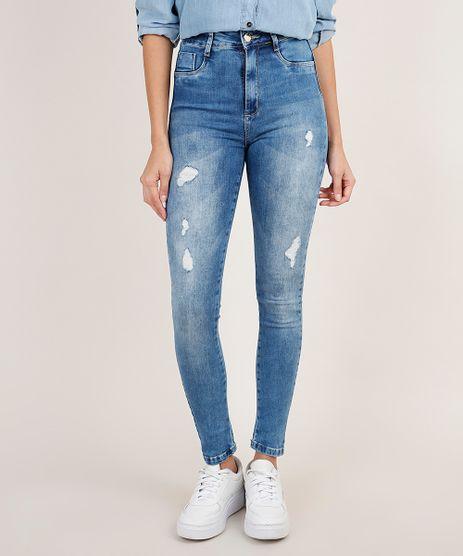 Calca-Jeans-Feminina-Sawary-Super-Skinny-Super-Lipo-Push-Up-Cintura-Alta-com-Rasgos-Azul-Medio-9941554-Azul_Medio_1