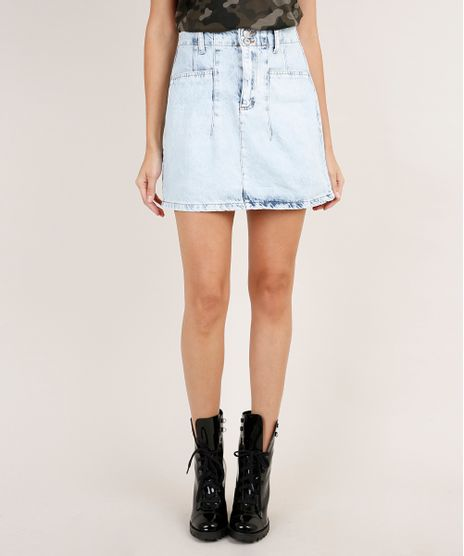 Saia-Jeans-Feminina-Curta-Azul-Claro-9889883-Azul_Claro_1