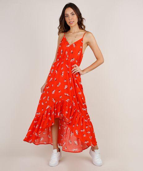 Vestido-Feminino-Longo-Mullet-Estampado-Floral-Alca-Fina-Laranja-9819264-Laranja_1