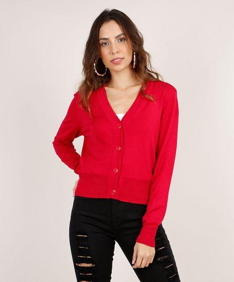 Cardigan-Feminino-Basico-Cropped-em-Trico-Rosa-Escuro-9804665-Rosa_Escuro_1