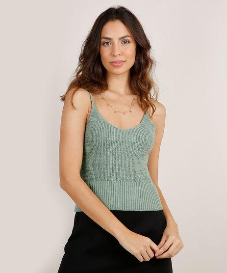 Regata-Feminina-Cropped-em-Trico-Alca-Fina-Decote-V-Verde-Claro-9251208-Verde_Claro_1
