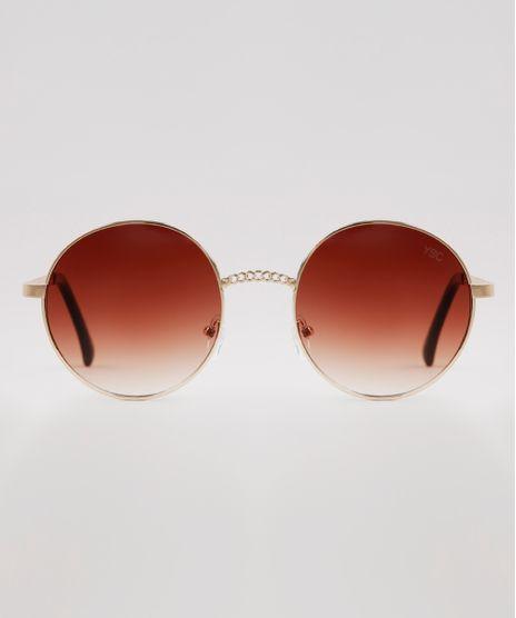 Oculos-de-Sol-Redondo-Feminino-Yessica-Dourado-9932789-Dourado_1