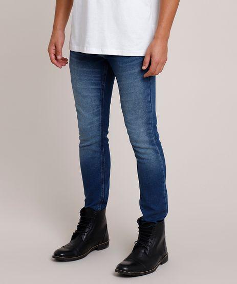 Calca-Jeans-Masculina-em-Moletom-Skinny-Azul-Escuro-9859784-Azul_Escuro_1
