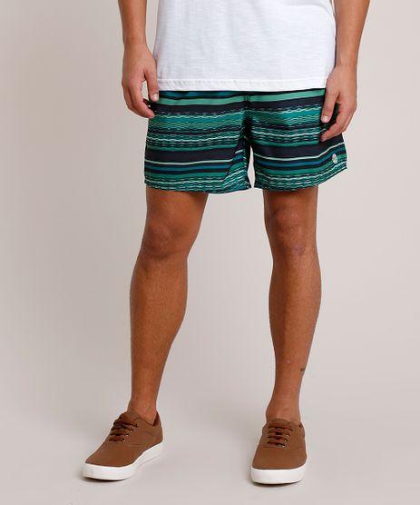 Short-Masculino-Estampado-Listrado-com-Bolsos-e-Cordao-Verde-9788117-Verde_1