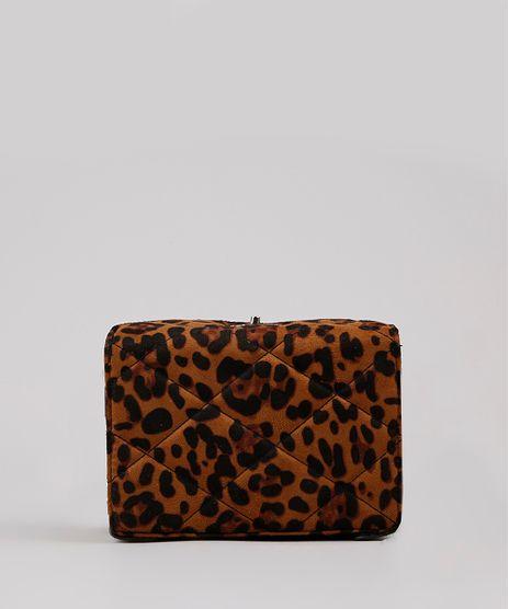 Bolsa-Feminina-Transversal-Pequena-Matelasse-Estampada-Animal-Print-Onca-em-Suede-Caramelo-9484074-Caramelo_1