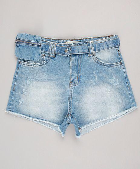 Short-Jeans-Infantil-com-Puidos-e-Cinto-Pochete-Removivel-Azul-Claro-9817485-Azul_Claro_1