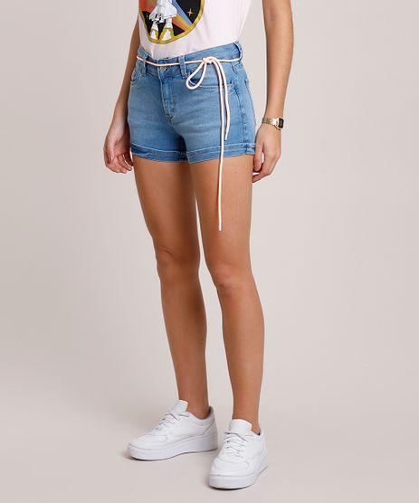 Short-Jeans-Feminino-Reto-com-Barra-Dobrada-e-Cinto-Cadarco-Azul-Claro-9860040-Azul_Claro_1