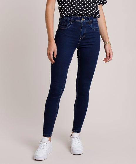 Calca-Jeans-Feminina-Sawary-Super-Skinny-Cintura-Alta-Azul-Escuro-9941542-Azul_Escuro_1