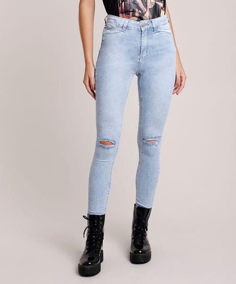 Calca-Jeans-Feminina-Sawary-Super-Skinny-Heart-Cintura-Alta-com-Rasgos-e-Strass-Azul-Claro-9941544-Azul_Claro_1