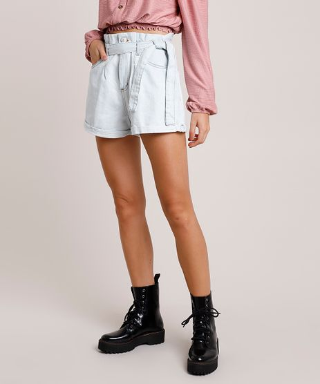 Short-Jeans-Feminino-Clochard-Cintura-Super-Alta-com-Faixa-para-Amarrar-Azul-Claro-9854728-Azul_Claro_1