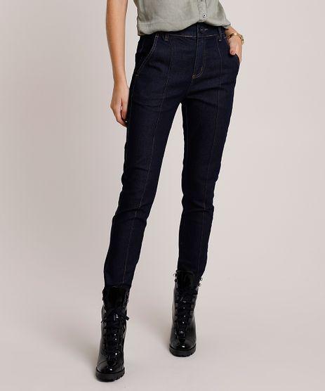 Calca-Jeans-Feminina-Sawary-Super-Skinny-Cintura-Super-Alta-com-Nervura-Azul-Escuro-9941562-Azul_Escuro_1