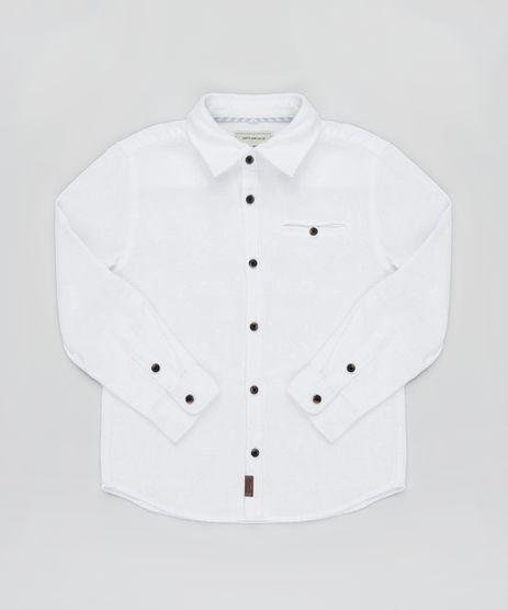 Camisa-Infantil-em-Piquet-com-Bolso-Manga-Longa-Branca-9808437-Branco_1