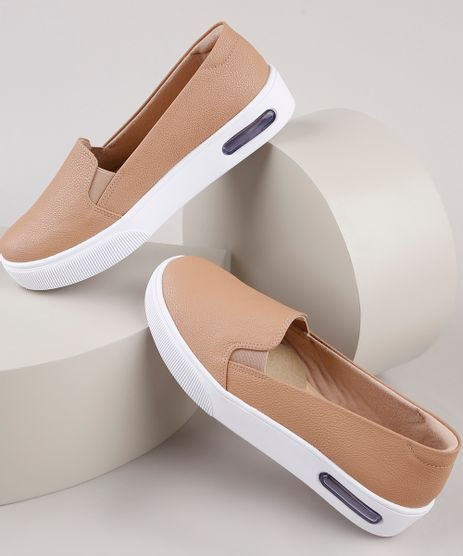 Tenis-Slip-On-Feminino-Modare-Ultra-Conforto-Bege-9904587-Bege_1