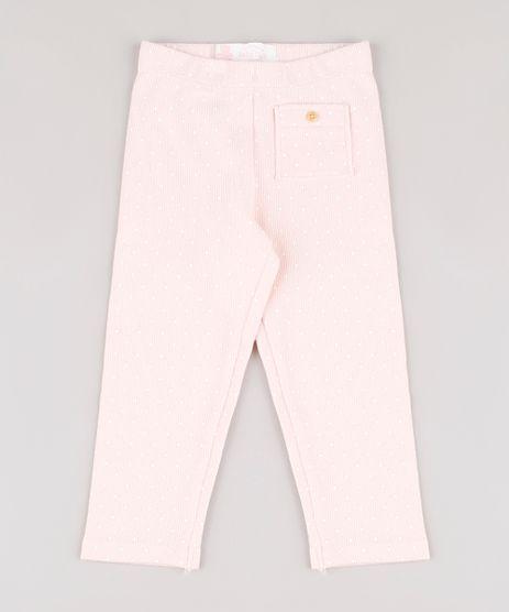 Calca-Legging-Infantil-Canelada-Estampada-de-Poa-com-Bolso-Rosa-Claro-9723442-Rosa_Claro_1