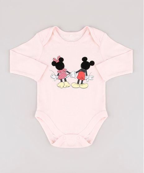 Body-Infantil-Minnie-e-Mickey-Manga-Longa-Rosa-Claro-9917211-Rosa_Claro_1
