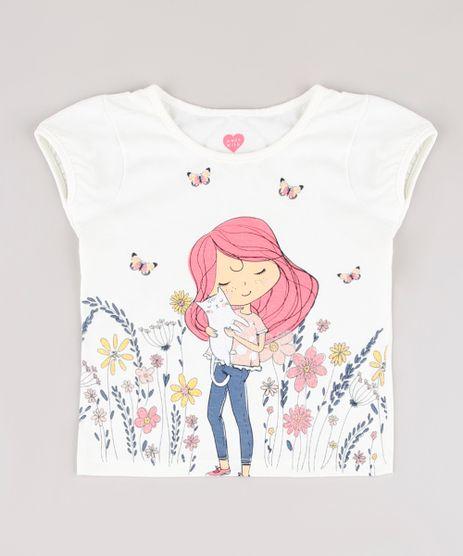 Blusa-Infantil-Menina-com-Gato-Manga-Curta-Off-White-9895168-Off_White_1