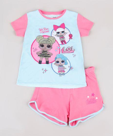 Pijama-Infantil-LOL-Surprise-Manga-Curta-Azul-Claro-9844006-Azul_Claro_1