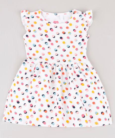 Vestido-Infantil-Estampado-de-Poa-com-Babado-Sem-Manga-Off-White-9895169-Off_White_1
