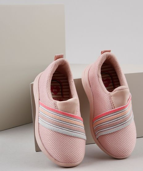 Tenis-Infantil-Molekinha-Running-com-Recorte-Listrado-Rosa-Claro-9903547-Rosa_Claro_1