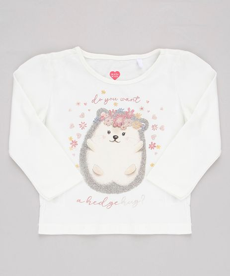 Blusa-Infantil-Porco-Espinho-com-Glitter-Manga-Longa-Off-White-9909947-Off_White_1