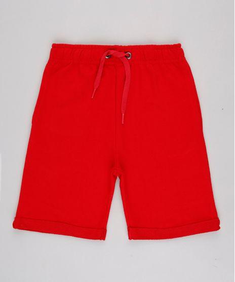 Bermuda-Infantil-Basica-em-Moletom-com-Bolso-Barra-Dobrada-Vermelho-9936162-Vermelho_1