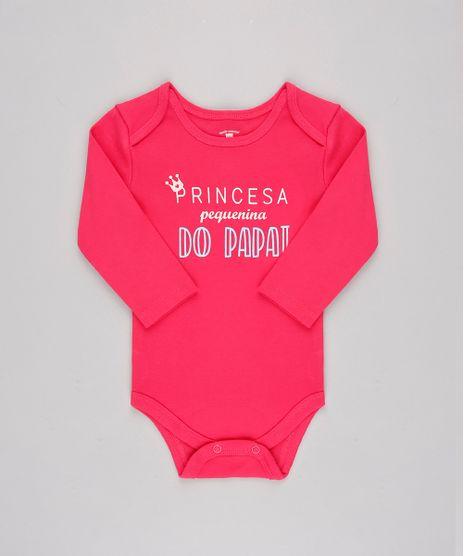 Body-Infantil--Princesa-pequenina-do-papai--Manga-Longa-Rosa-Escuro-9697257-Rosa_Escuro_1