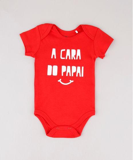 Body-Infantil--A-cara-do-papai--Manga-Curta-Vermelho-9697993-Vermelho_1