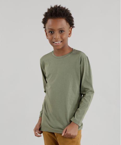 b6c9fb453 Camiseta-Basica-Verde-Militar-8614841-Verde Militar 1