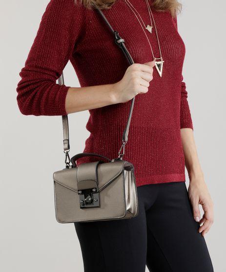 Bolsa Dourada Transversal : Bolsas femininas c a