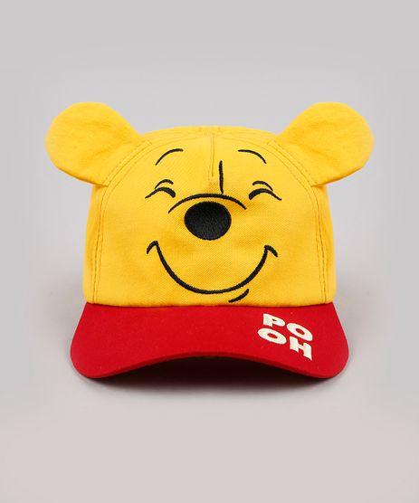 Bone-Infantil-Aba-Curva-Ursinho-Pooh-com-Orelhinhas-e-Bordado-Amarelo-9888502-Amarelo_1