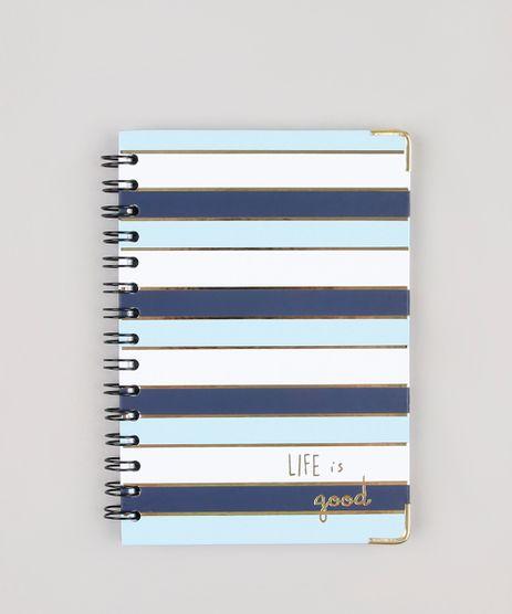 Caderno-Espiral-Capa-Dura-com-Pauta-Listrado--Life-is-Good--205-cm-x-145-cm-Azul-Claro-9875356-Azul_Claro_1