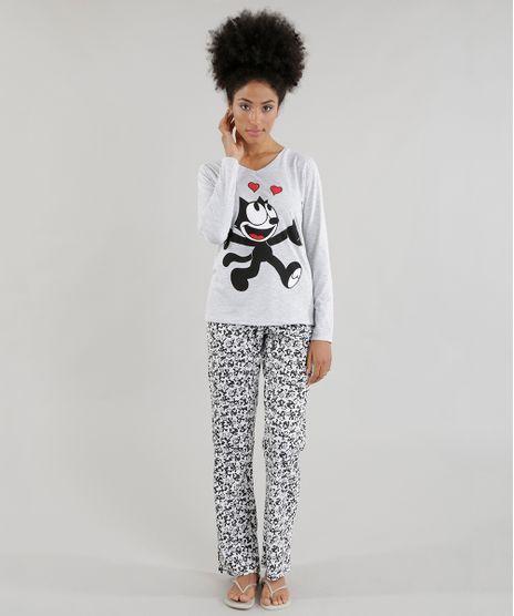 Pijama-Gato-Felix-Cinza-Mescla-8574232-Cinza_Mescla_1