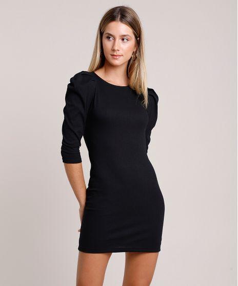 Vestido-Feminino-Curto-Canelado-Manga-Bufante-Preto-9897496-Preto_1