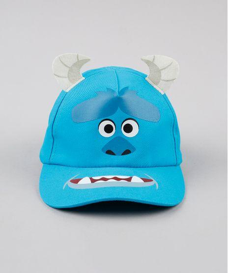 Bone-Infantil-Carnaval-Aba-Curva-James-Sullivan-Monstros-S-A--Azul-Claro-9888496-Azul_Claro_1